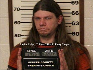 Video: Taylor Ridge, IL Post Office armed robbery suspect in custody