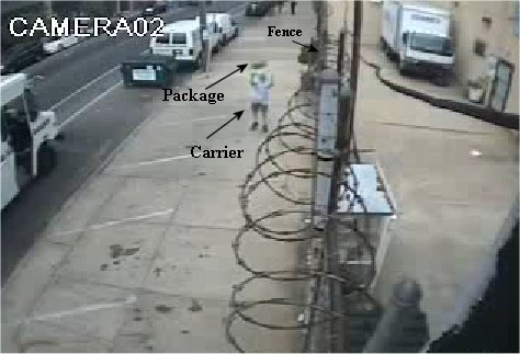 Video: Carrier throws package over 12ft fence