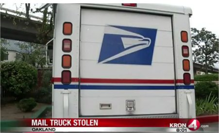 Video: USPS mail truck stolen in Oakland recovered, mail