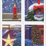 Holiday Windows Forever stamps