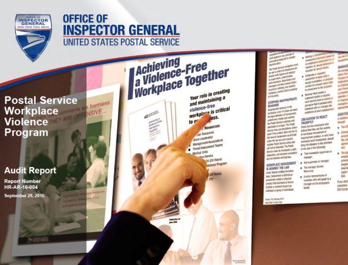 OIG: Postal Service Workplace Violence Program