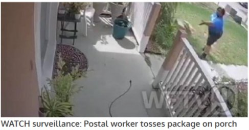 Video: Apopka, FL Neighborhood Carrier Continues To Toss Fragile Mail And Packages Onto Porch