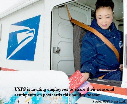 Sharing the spirit – USPS employees offering seasonal sentiments