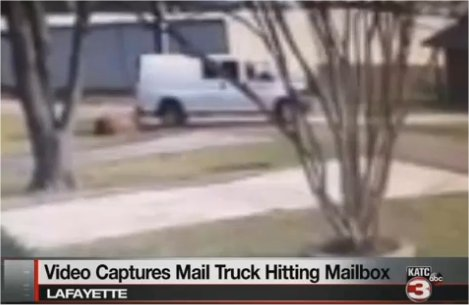 Video: USPS carrier knocks down mailbox, customer wants answers