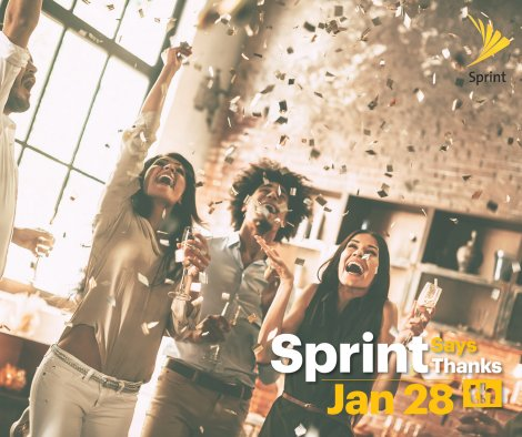 Sprint Says Thanks – Come By January 28th For Amazing Deals!