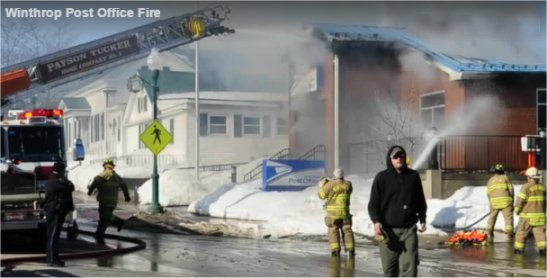 Video: Mail recovery begins at Winthrop post office destroyed by fire