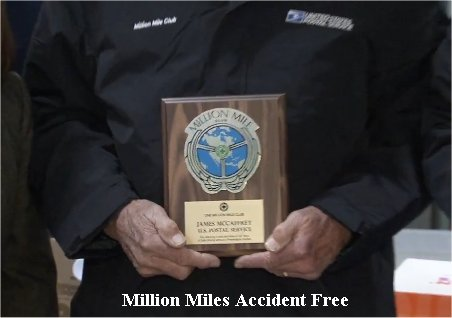 Video: Letter Carriers Reach A Million Miles Accident Free