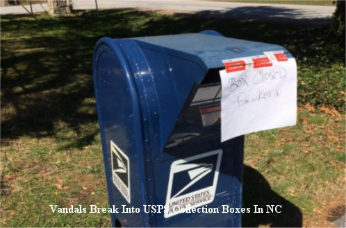 Video: Thieves go 'postal,' cracking the locks on several North Carolina USPS drop boxes