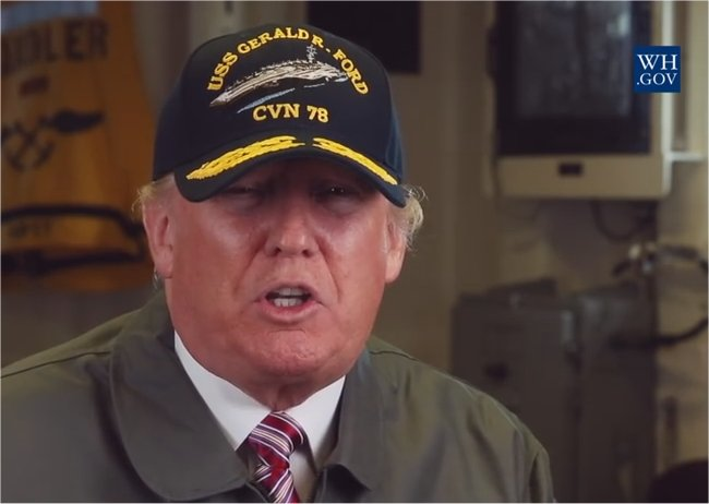 Video: President Donald J. Trump Delivers the Weekly Address from the U.S.S. Gerald R. Ford