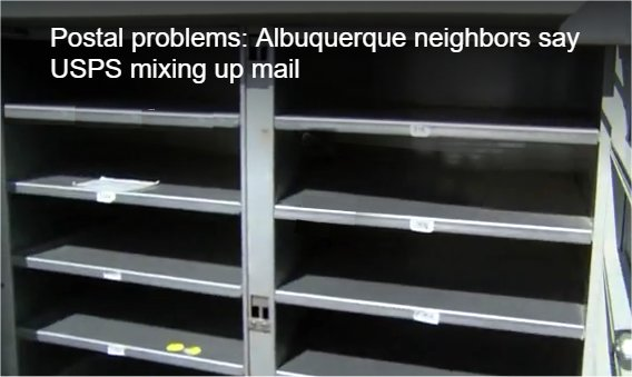 Video: Albuquerque neighbors say USPS mixing up mail