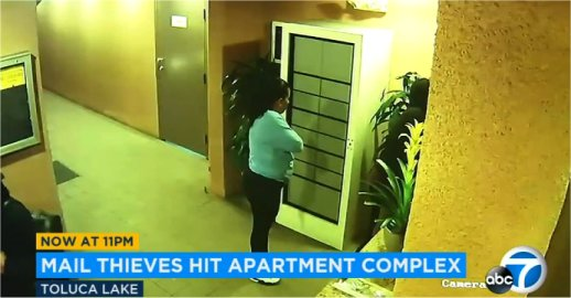 Video: Thieves Use USPS Master Key To Break Into Toluca Lake, CA Apartment Complex Twice
