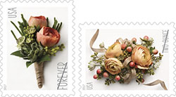 U.S. Postal Service Announces New Celebration Corsage and Boutonniere Forever Stamps