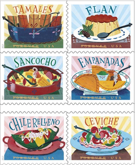 Postal Service Celebrating Latin American Cuisine Today with Dedication of Delicioso Forever Stamps