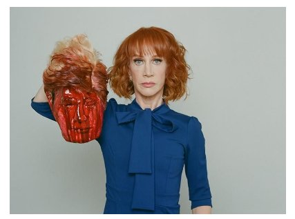 Video: Kathy Griffin Apologizes for Bloody, Decapitated Trump Image