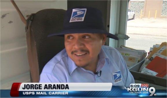 Video: Rain or shine this Arizona mailman beats the heat