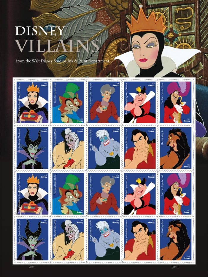 Disney Studios Ink & Paint Department to be Celebrated on Forever Stamps Featuring Disney Villains