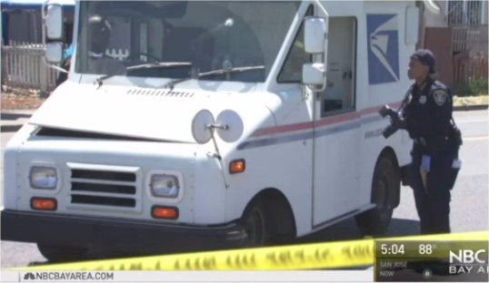 Video: California Letter Carrier Struck in Hip When Stray Bullet