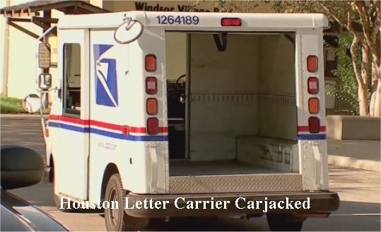 Video: Postal worker carjacked while delivering mail in SW Houston