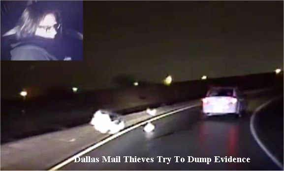 Video: Mail thieves lead Dallas officials on high-speed chase