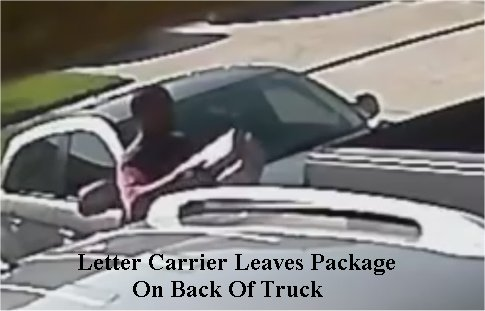 Video: Texas postal carrier leaves package exposed on back of truck