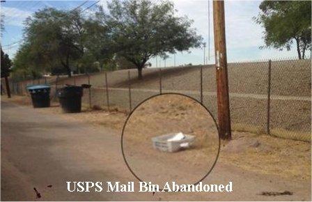 Video: USPS mail bin with mail inside found dumped in Phoenix alley