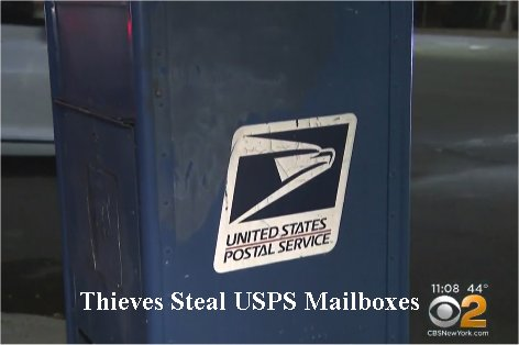 Video: Thieves Steal Three USPS Collection Boxes In Yonkers