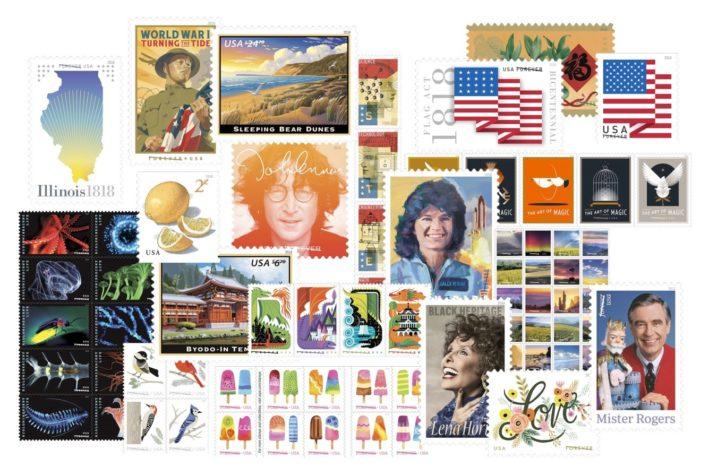 Postal Service Provides a Sneak Peek at Select 2018 Stamps