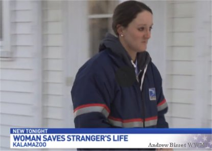Michigan letter carrier saves the life of a stranger