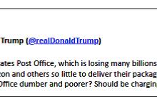 Letter Carrier Union Responds To Trump Tweet