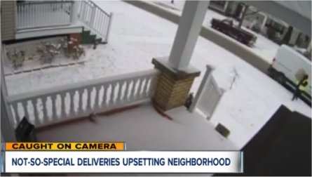 Camera catches Amazon delivery driver tossing packages