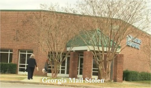 Mail stolen from two Georgia two post office delivery boxes