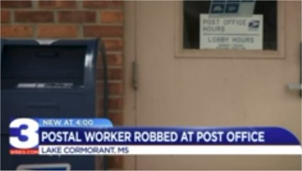 Postal worker robbed and pistol whipped at rural Mississippi post office