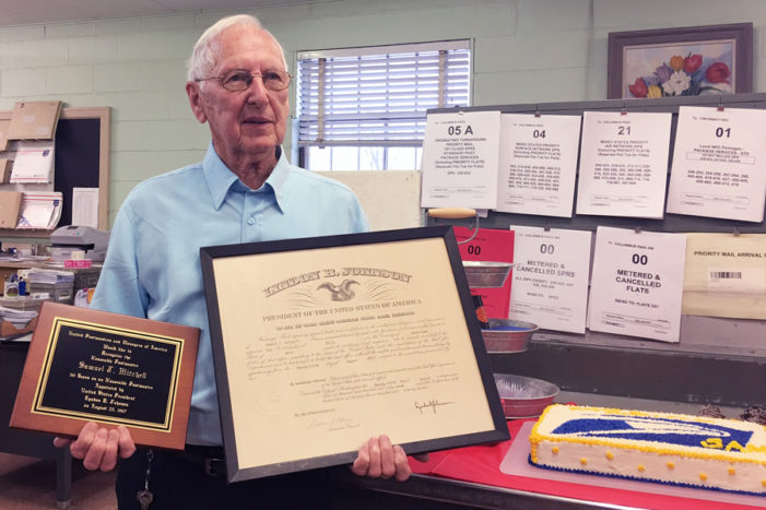 Last Postmaster appointed by a president retires