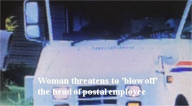 Woman threatens to 'blow off' head of Dayton, OH postal worker