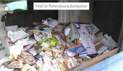 Video: Dozens of tubs of mail found in Petersburg, VA dumpster