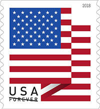 Postal Service Dedicates New U.S. Flag Forever Stamp